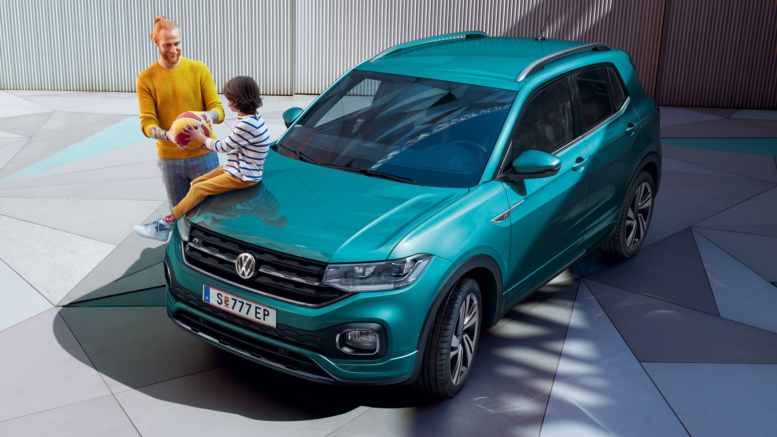 vw t-cross modra
